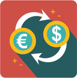 Currency conversion icon Stock Images