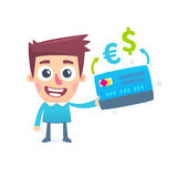 Currency conversion in the online bank Royalty Free Stock Photography