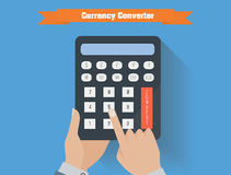 Currency converter vector illustration. Royalty Free Stock Photography