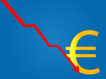 Currency Crisis Euro Royalty Free Stock Image