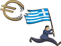 Greek crisis - threat to the euro zone Royalty Free Stock Image