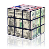 Currency cube Stock Photo