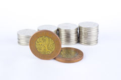 Currency of the Czech republic. Czech crown coins, currency of the Czech republic in the central Europe Royalty Free Stock Image