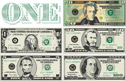 Currency denominations Stock Image