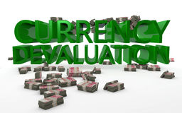 Currency Devaluation Chinese Yuan Royalty Free Stock Photography