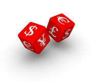 Currency dice Royalty Free Stock Image