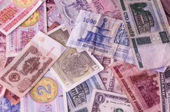 Currency different countries banknotes Royalty Free Stock Photo