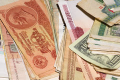 Currency of the different countries of the world Royalty Free Stock Photo