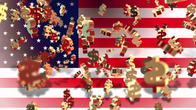 Currency - dollar - Flag stock footage