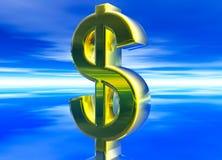 currency dollar gold symbol usd Стоковое Фото