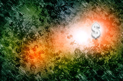 Currency Dollor Rising Royalty Free Stock Images
