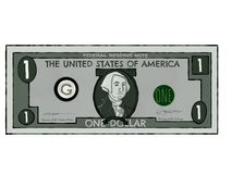 Drawing of a Single US Dollar Bill royalty free stock image