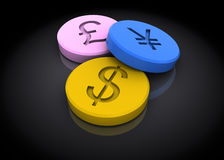 Currency drugs Stock Photos