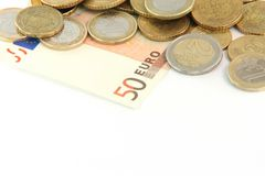 Currency euros Stock Photography