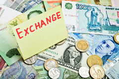 Currency excange Stock Image