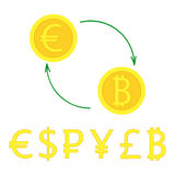 Currency excange Stock Image