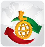 Currency exchange Royalty Free Stock Photos