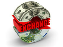 Currency exchange. Stock Photography