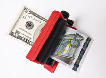 Currency Exchange. Dollars to Euros or Euros to Dollars Stock Photography