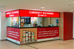 Currency exchange at the airport Stock Image