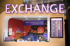 Currency Exchange Booth Stock Photo