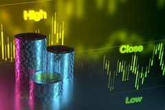 Currency Exchange Chart, 3D Rendering Stock Photography