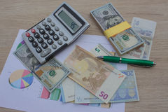 Currency exchange concept. finances, currency, exchange rate and business concept stock image