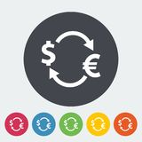Currency exchange. Single flat icon on the circle. Vector illustration Royalty Free Stock Image