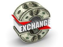 Currency exchange. dollar Stock Photo