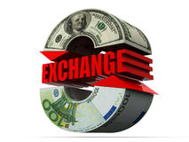 Currency Exchange. Dollar Stock Photography
