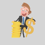 Currency exchange dollar Royalty Free Stock Image