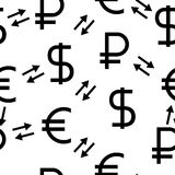 The currency exchange dollar Royalty Free Stock Photo