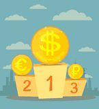 The currency exchange dollar, euro, ruble icon. Stock Photo