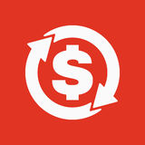 The currency exchange dollar icon. Cash and money, wealth, payment symbol. Flat Stock Images