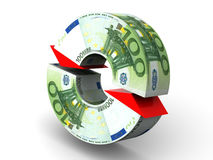 Currency exchange. Euro Stock Photos