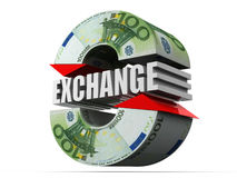Currency exchange. Euro Royalty Free Stock Photo
