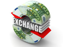 Currency exchange. Euro Royalty Free Stock Images