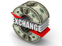Currency exchange. Euro. Royalty Free Stock Image