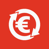 The currency exchange euro icon. Cash and money, wealth, payment symbol. Flat Stock Photography