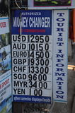 Currency exchange Stock Photography