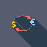 Currency exchange. Royalty Free Stock Photography