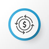 Currency Exchange Icon Symbol. Royalty Free Stock Photos