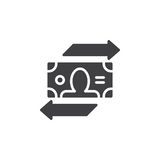 Currency exchange icon vector, filled flat sign, solid pictogram isolated on white. Stock Photos