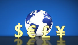 Currency Exchange International World Economy Stock Photos