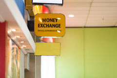 Currency exchange. Money exchange station,Currency exchange Stock Photos