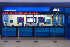 Currency exchange outlet at Melbourne Airport Stock Photography
