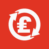 The currency exchange pound sterling icon. Cash and money, wealth, payment symbol. Flat Royalty Free Stock Photos
