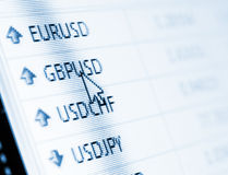 Currency exchange Stock Image