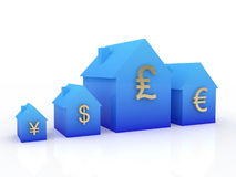 Currency exchange rates. World leading currency exchange rates symbol Stock Photos