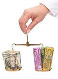 Currency exchange rates concept Stock Photo